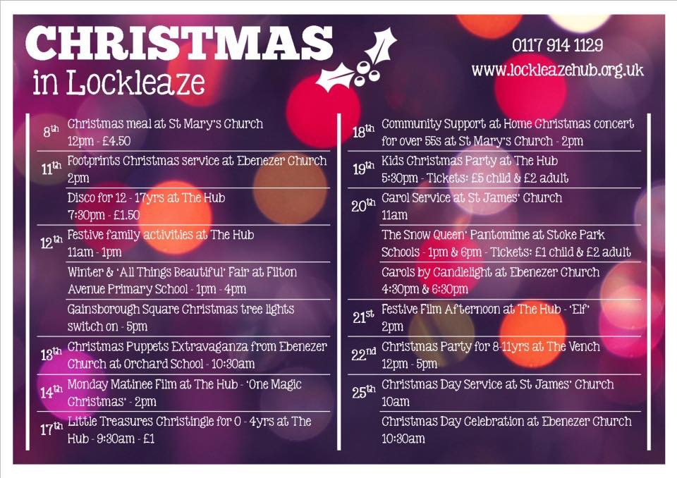 Christmas in Lockleaze - Christmas Events in Lockleaze