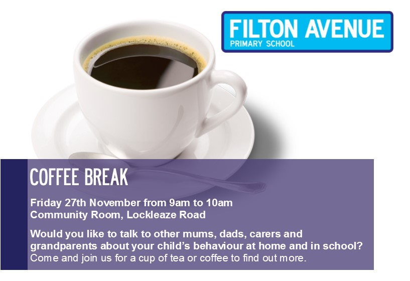 Coffee Morning for Child behaviour flyer - Coffee Morning 27th November