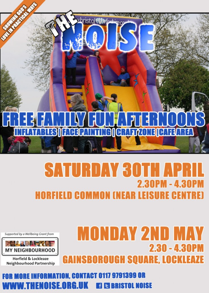 horfield lockleaze funafternoon poster 730x1024 - Family Fun Afternoons in Horfield and Lockleaze over the Bank Holiday weekend