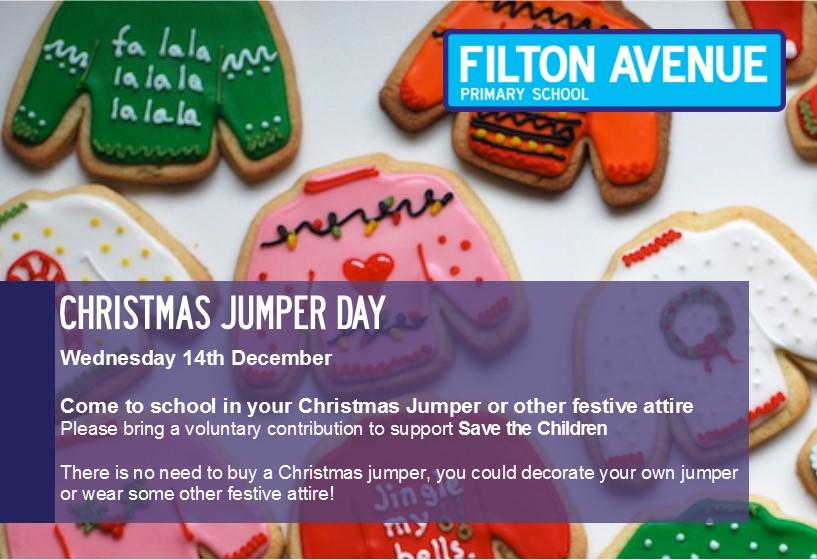 Christmas jumper day for website 2016 - Christmas Jumper Day  - Wednesday 14th December