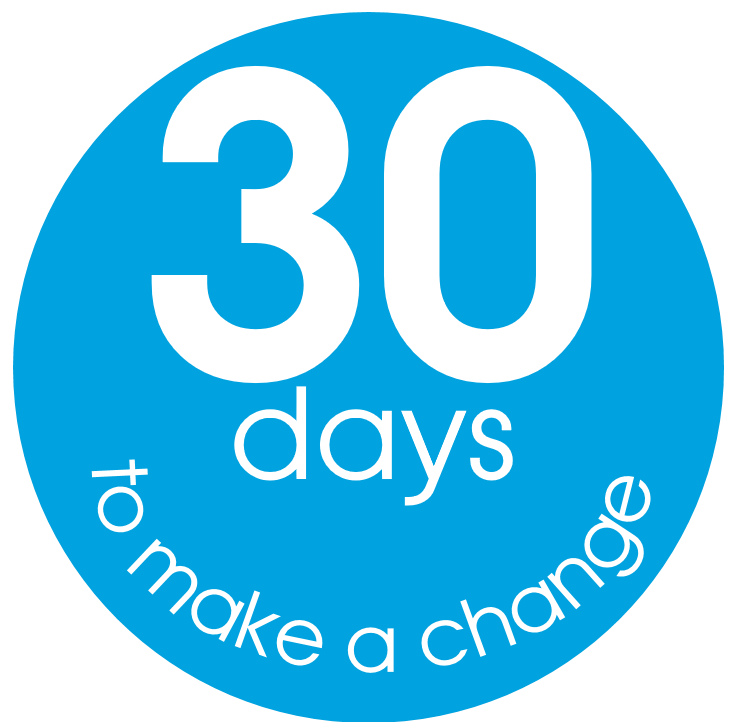 30 days e1484300942435 - 30 Days to Make a Change