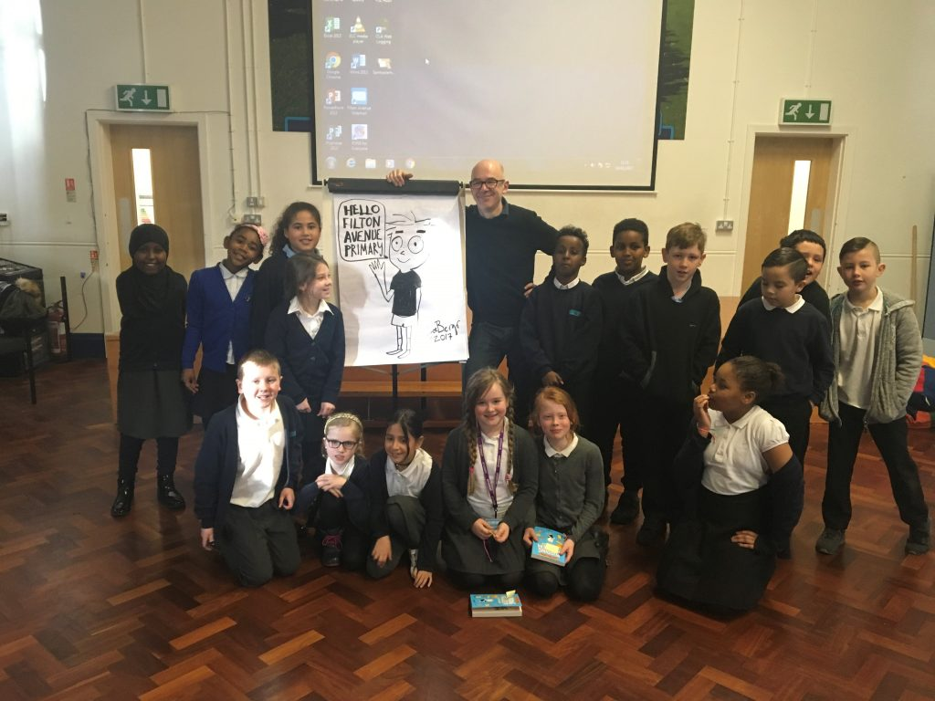 Illustrator photo 24 01 17 1024x768 - We enjoyed Illustrator Joe Berger's visit today