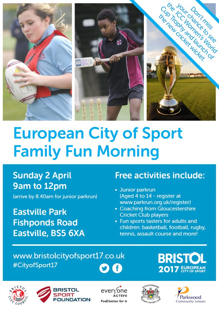 ECoS launch family fun poster 723x1024 - Family Fun Sports Morning -  Sunday 2nd April 2017