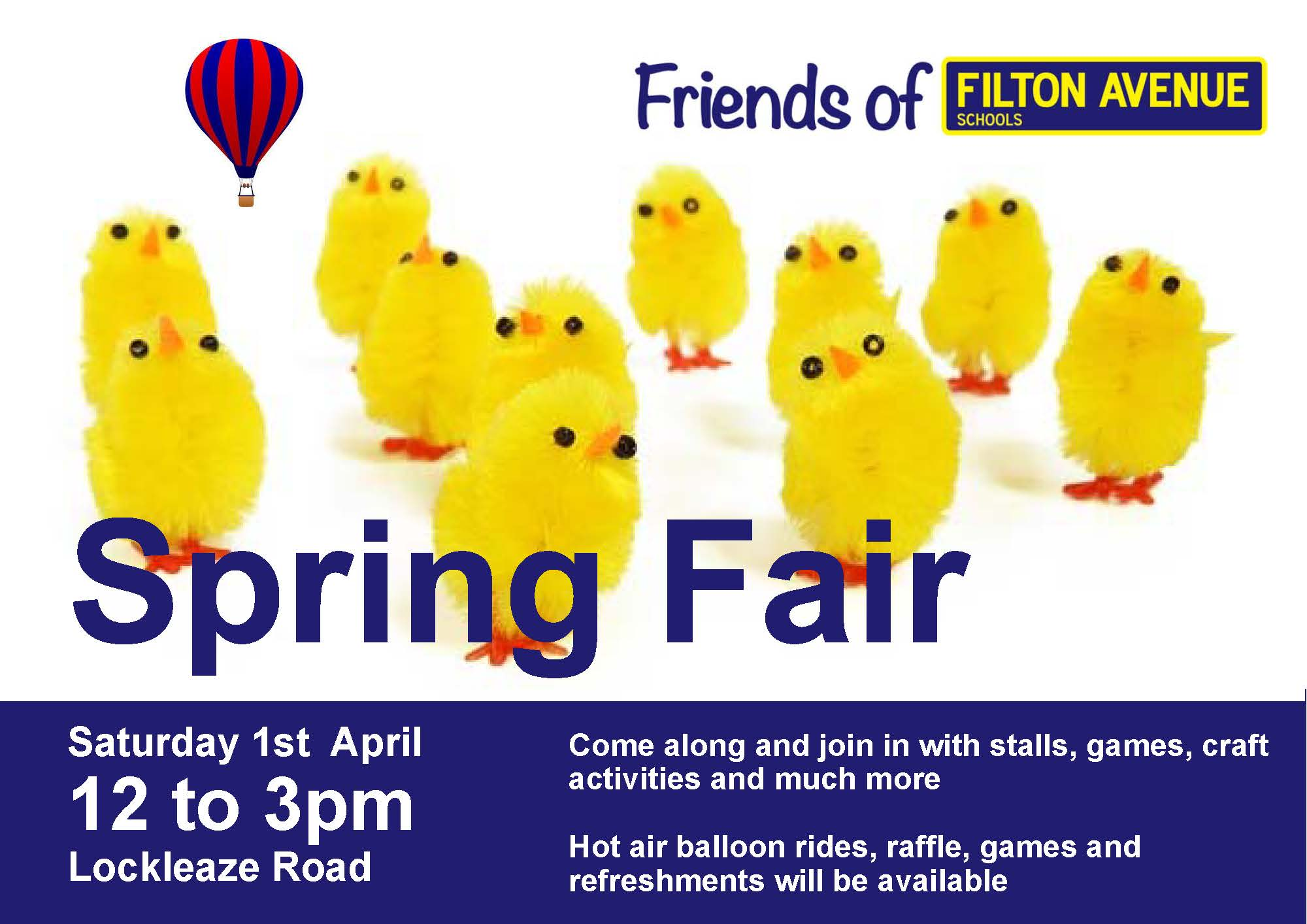 FFA Spring Fair Banner 3 - FFA Spring Fair Saturday 1st April 2017 at Lockleaze Road