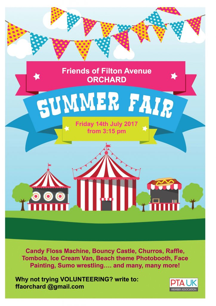 Orchard FFA 724x1024 - Orchard Campus Summer Fair - 3.15pm Friday 14th July 2017