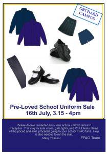 "FFAO school uniform sale 2018 211x300 - Orchard Campus ""Pre-loved"" Uniform Sale on Monday 16th July"